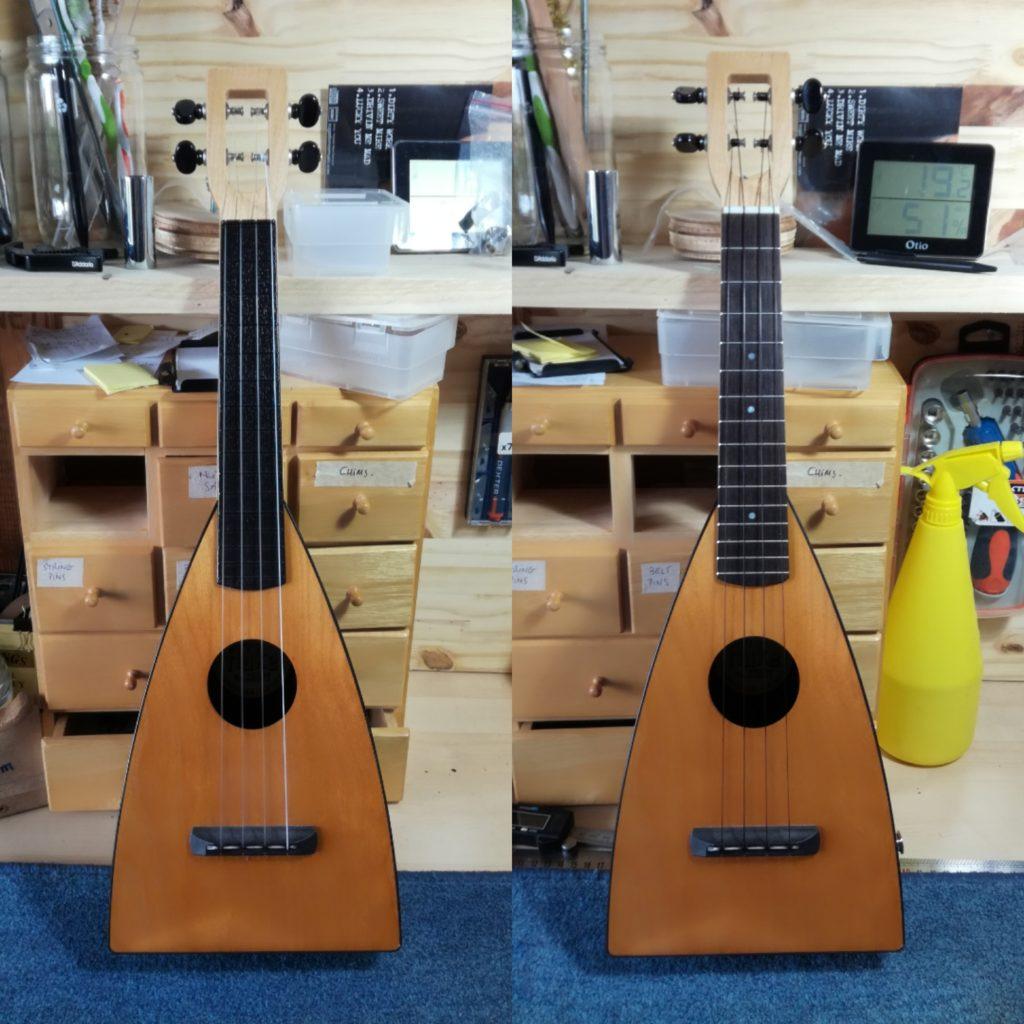 Fluke ukulele customized by Melopee.fr