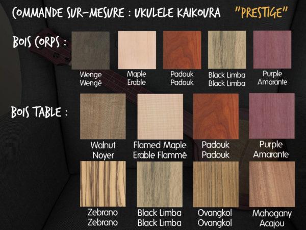 Ukulélé Mélopée Kaikoura - Options Commandes PRESTIGE FR
