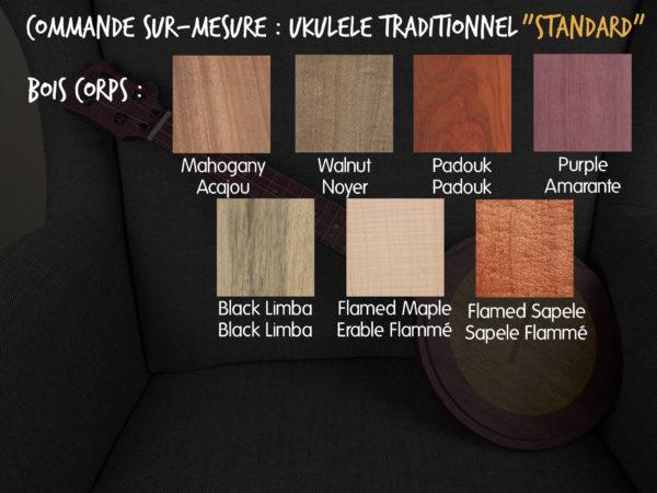 Ukulélé Mélopée Traditionnel - Options Commandes STANDARD FR